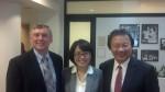 Prof.  John Aldrich, Christine Chiu (Prof. Tianjian Shi's Wife) and Prof. Kang Liu