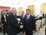 Meeting Li Yuanchao, VP of China, in the Great Hall of the People
