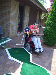 Portable Mini Golf With Putting Assist 171 Assistive