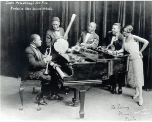 Johnny St. Cyr (banjo) with Louis Armstrong's Hot Five. Courtesy Hogan Jazz Archive.