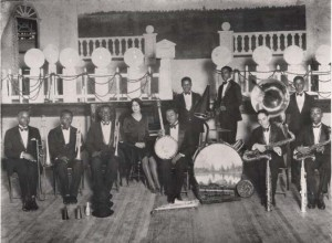 Narvin Kimball (banjo) with Celestin's Tuxedo Jazz Orchestra. Courtesy Hogan Jazz Archive, Tulane University.