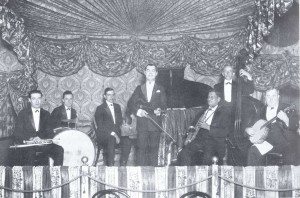 "Emile ""Stalebread"" Lacoume (banjo) with the Fischbein-Williams Syncopators at the LaVida Dance Hall (1923). Courtesy Hogan Jazz Archive, Tulane University."