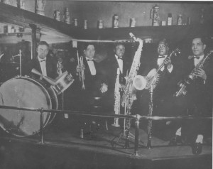 Willie Santiago (banjo) with Albert Nicholas' Band at Anderson's Annex (circa 1923). Courtesy Hogan Jazz Archive, Tulane University.