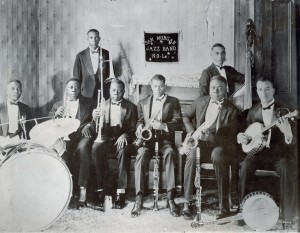 Johnny Dave (banjo) with Sam Morgan's Jazz Band. Courtesy Hogan Jazz Archive.