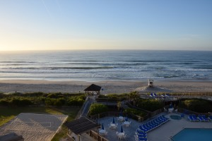 A beautiful morning view of the Atlantic from the Holiday Inn Resort.