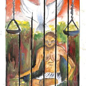 Fig. 12. Swati, <em>Gandhiji in My Imagination</em>, Standard X, Holy Cross High School, Mumbai, 2012<br />Image courtesy Mani Bhavan Gandhi Sangrahalaya <br />and Gandhi Smarak Nidhi, Mumbai