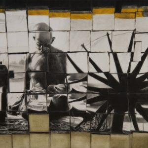 Fig. 3. Ravikumar Kashi, <em>Back and Forth-1</em>, oil on canvas, 2011<br />Image courtesy the artist