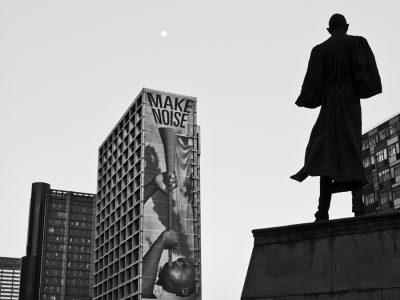 Fig. 3. Riyas Komu, <em>Gandhi Square, South Africa</em>, photograph, 2010<br />Image courtesy the artist
