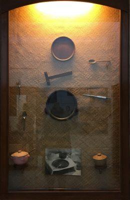 Fig. 5. Display of Gandhian relics, Mani Bhavan Gandhi Sangrahalaya, Mumbai<br />Author's photo