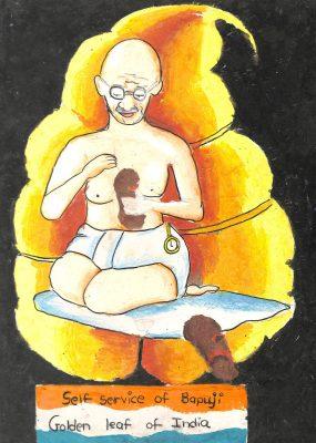 Fig. 6. Divya, Untitled, Standard V, V.N. Sule Guruji Vidyalaya, Mumbai, 2008<br />Image courtesy Mani Bhavan Gandhi Sangrahalaya <br />and Gandhi Smarak Nidhi, Mumbai