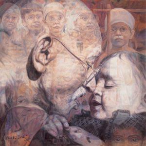 Fig. 9. Gopal Swami Khetanchi, <em>Innocence</em>, oil on canvas, 2010<br />Image courtesy the artist