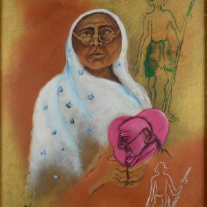 Fig. 12. Arpana Caur, <em>Ba</em>, oil on canvas, 1995<br />Image courtesy Vijay Kumar Aggarwal, Swaraj Art Archive, Noida