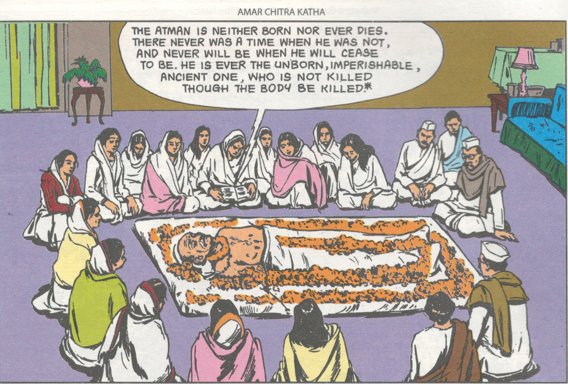 Fig. 6. Sourav Roy, comic book illustration, c. 2008<br />From <em>Mahatma Gandhi: Father of the Nation</em>. Mumbai: Amar Chitra Katha, 2008
