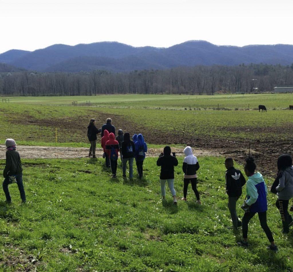 Photo of BOOST XL Scholars on Warren Wilson college farm tour
