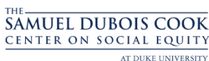 Logo displaying the name of the Samuel DuBois Cook Center on Social Equity at Duke University