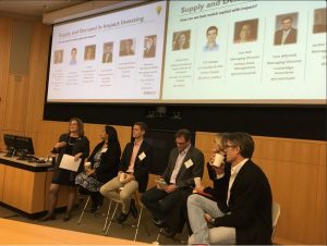 CASE i3 advisors speaking on impact investing at Duke's Sustainable Business and Social Impact conference in February 2017.