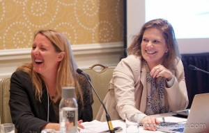 Alicia Robb, Kauffman Foundation and Cathy Clark, CASE i3 at Investors' Circle May 2013