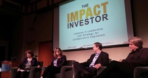 Carla Javitz of REDF, with co-authors Cathy Clark of CASE i3, Ben Thornley, and Jed Emerson discuss impac investing at UC Berkeley's Haas School of Business in Fall 2014.