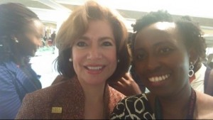 DukeSEAD's Patricia Odero with Small Business Administrator Maria Contreras-Sweet