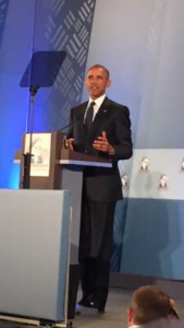 President Obama's Keynote about the importance of youth and women in entrepreneurship