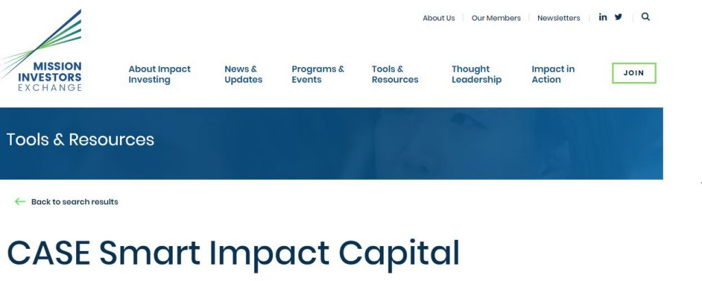 Mission Investors Exchange Features Impact Investing Toolkit