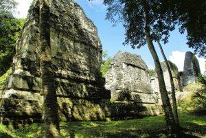 The Tikal ruins in Guatemala in the sunshine