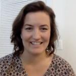 Caroline Amoroso presenting a virtual talk