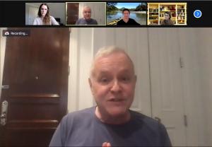 Neal Baer in a Zoom meeting