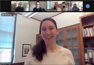Zaneta Thayer in a Zoom meeting