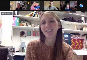 Chelsea Weibel in a Zoom meeting