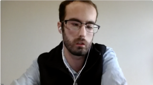 Kyle Card in a Zoom meeting