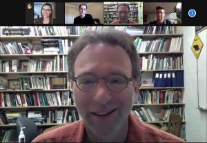 Dan Blumstein in a Zoom meeting