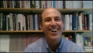 David McAdams in a Zoom meeting
