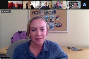 Hayley Hassler in a Zoom meeting