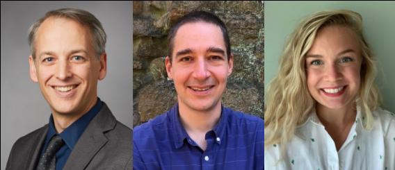 headshots of Jeffrey Townsend, Alex Dornburg, and Hayley Hassler