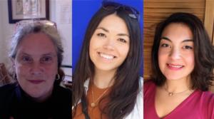 Ruth Mace, Emily Emmott, and Gul Deniz Salali headshots