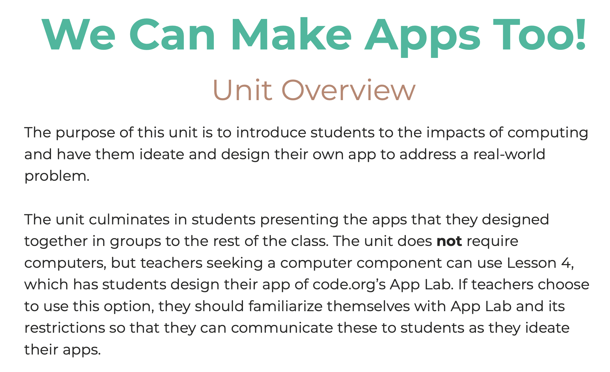 We Can Make Apps Too!