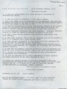 the student demands 1969