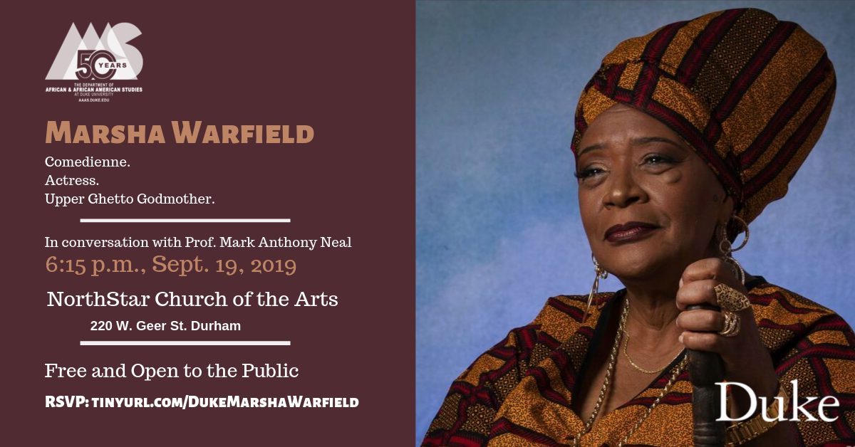 Image of Marsha Warfield and info about her visit