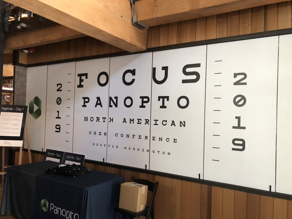Panopto 2019 User Conference Signage