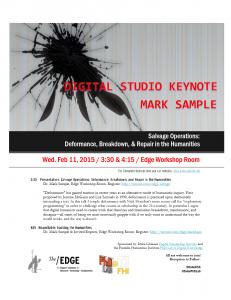 Mark Sample Keynote