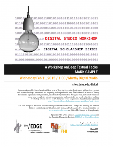 Mark Sample Workshop
