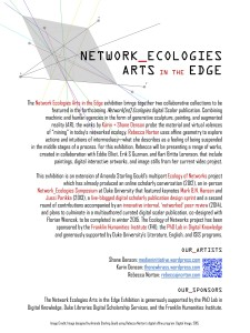 network ecologies exhibit poster