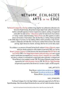 network ecologies exhibit poster