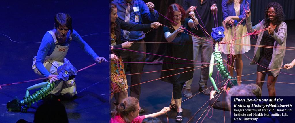 Images from Marina's Tsaplina's interactive puppetry performance