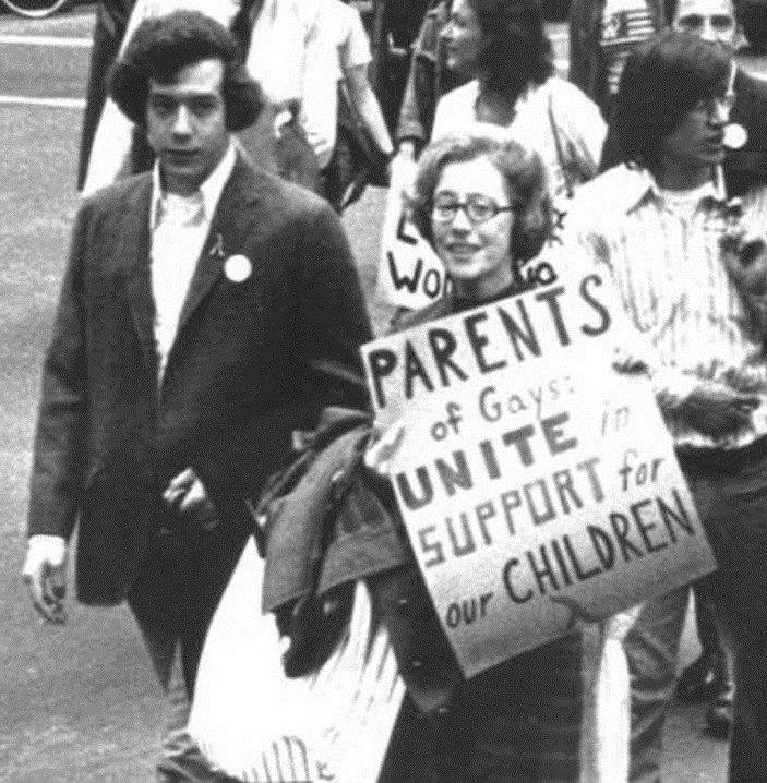 Picture of Morty Manford at a march with his mother Jeanne