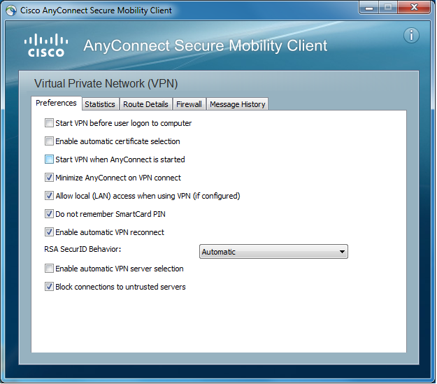 Installing Cisco Anyconnect Secure Mobility Client on PCs
