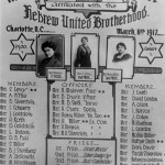 Hebrew Ladies Auxilliary, March 11, 1917, Courtesy Charlotte Jewish Historical Society
