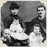 Moses Gladstein (top right) labor contractor hired by Duke Buck, and his family, c. late 1800s