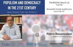 Pierre Rosanvallon gives public lecture on populism